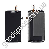 Дисплей Lenovo A859 с тачскрином в сборе, цвет черный