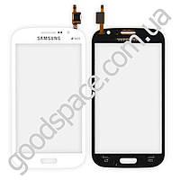 Тачскрин (сенсор) Samsung i9082 Galaxy Grand, большая или маленькая микросхема, цвет белый