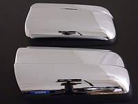 Накладки на зеркала Mercedes W210 (ABS-пластик) без вырезов под поворотник