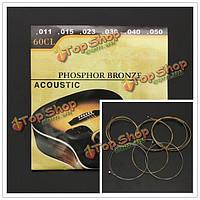 60cl (.011-.050) фосфористая бронза рана стальные струны для акустической гитары