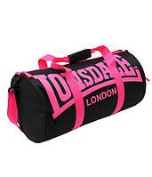 Lonsdale Barrel Bag (Черный/Розовый)
