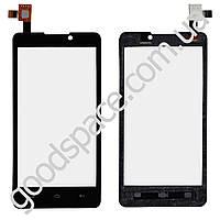 Тачскрин (сенсор) Prestigio MultiPhone PAP 4505 DUO, цвет черный, на 2 sim карты