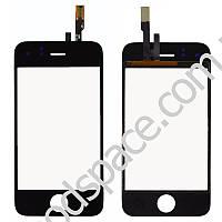Тачскрин (сенсор) со стеклом для iPhone 3G, цвет черный
