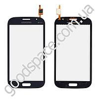 Тачскрин (сенсор) Samsung i9082 Galaxy Grand, цвет синий, копия высокого качества