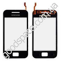 Тачскрин (сенсор) Samsung S5830i Galaxy Ace, большая или маленькая микросхема, цвет черный, выс кач