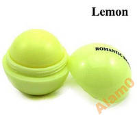 Бальзам для губ шар ROMANTIC BEAR (как EOS) лимон