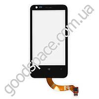 Тачскрин (сенсор) Nokia 620 Lumia, цвет черный, по версиям (ревизия 1; 1,3; 3)