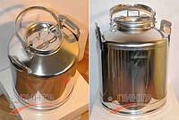 Бидон 25 литров с Краном, нержавеющая сталь, пищевой.