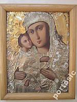 Икона Владимирская Богоматерь в рамке с окладом
