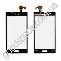 Тачскрин (сенсор) LG P705, P700, P750 Optimus L7, цвет черный