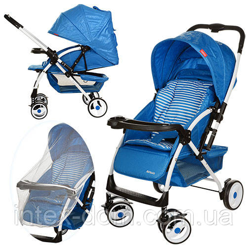Детская прогулочная коляска Bambi (A-58-4) СИНЯЯ