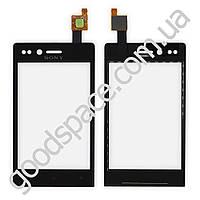 Тачскрин (сенсор) Sony ST23i Xperia Miro, большая или маленькая микросхема, цвет черный