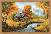 Набор для вышивания крестом «Осенний пейзаж» (1079), Риолис