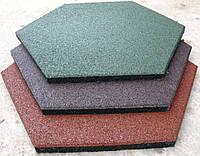 Покрытие резиновое Eco Form ( шестиугольное) 30 мм
