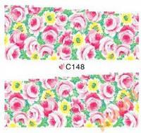 Слайдеры водные наклейки С148 розовые розы Maxi
