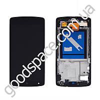 Дисплей LG Google Nexus 5 D821 (D820, D822) с тачскрином в сборе, цвет черный, в рамке