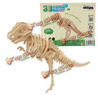 3D головоломки деревянные детские малыш ребенок мудрости животное динозавр игрушка