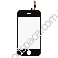 Тачскрин (сенсор) со стеклом для iPhone 3GS, цвет черный, копия высокого качества
