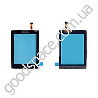 Тачскрин (сенсор) Nokia X3-02, цвет черный
