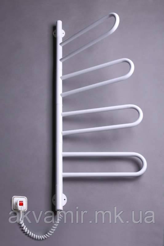 Полотенцесушитель Флюгер-4 900х460 мм поворотный белый с регулятором температуры