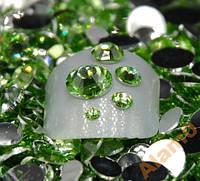 Стразы для ногтей 2-6 мм, 100 шт, зеленые