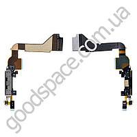 Шлейф с разъемом зарядки для iPhone 4, цвет черный, копия