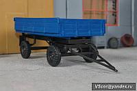 Прицеп тракторный самосвальный ПТС -4,5 1/43 синий