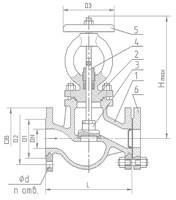 Вентиль 15с65нж стальной фланцевый (размеры)