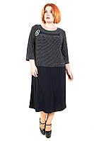 Красивое платье батал  Рoза горох (58-62), фото 1