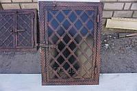 Дверца метал ковка для коптильни  1 -свт  (ёлка)600×400 мм