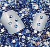 Стразы 500 шт стекло CRUSTAL, S6 2мм, синие