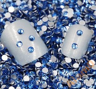 Стрази 500 шт скло CRUSTAL, S6 2мм, сині