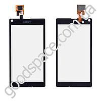 Тачскрин (сенсор) Sony C2104, C2105, S36H Xperia L, цвет черный