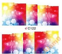 Слайдеры водные наклейки С122 цветные блики 7х6,5