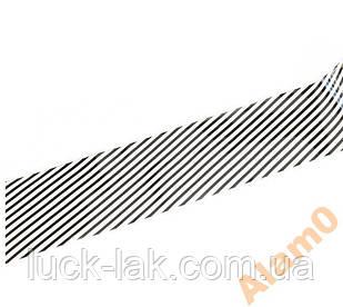 Перекладна фольга 20 см чорно біла геометрія смуги