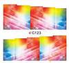Слайдеры водные наклейки С123, яркие лучики 7х6,5