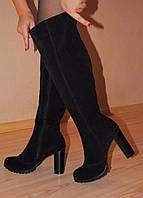 """Высокие замшевые сапоги мод """"Каролина""""  индивидуальный пошив"""