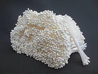 Тайские тычинки, БЕЛЫЕ, мелкие круглые на белой нити,  23-25 нитей, 50 головок