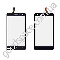 Тачскрин (сенсор) Nokia 625 Lumia, цвет черный, копия высокого качества