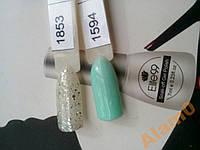 Гель лак 2 шт 1853 блестки и зеленый 1594