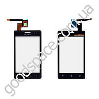 Тачскрин (сенсор) Sony Ericsson ST27i Xperia Go, цвет черный