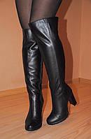 """Высокие кожаные сапоги  мод """"Каролина""""  индивидуальный пошив"""
