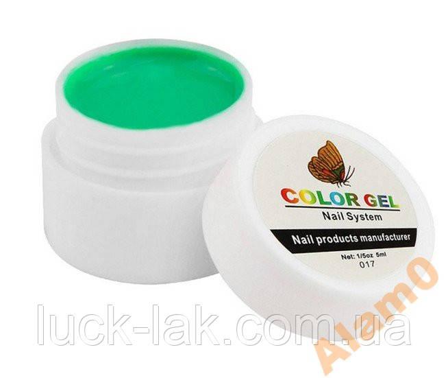 Цветной гель COLOR GEL 5 мл 017 зеленый