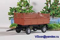 Масштабная модель прицеп тракторный ПТС 1/43 вар 2, фото 1
