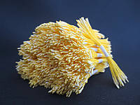 Тайские тычинки, БЕЛЫЕ, удлиненные на желтой нити, 23-25 нитей, 50 головок