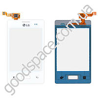Тачскрин (сенсор) LG E400 Optimus L3, цвет белый
