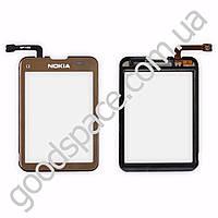 Тачскрин (сенсор) Nokia C3-01, цвет золотой