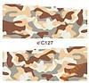 Слайдеры водные наклейки С127, пятна камуфляж 7х6,5