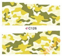 Слайдеры водные наклейки С126, пятна камуфляж 7х6,5