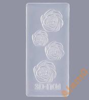 Форма силиконовая для акриловой лепки цветы розы